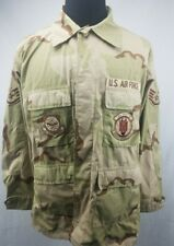 US Air Force Desert Camo with Patches Mens Jacket Large Long
