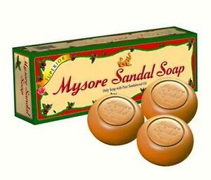 Mysore Sandal Soap 3x 150g Pack of 3 Each 150g India Natural Organic Bath Soap