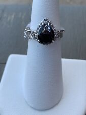 Ring Bomb Party Size 6 Midnight Ombre Crystal Double Band Ring Set