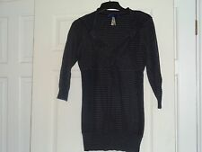 NEXT STRIPED JUMPER SIZE 12 BLACK AND GREY