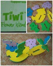 Tupperware Tiwi Flower Island Moosgummi Puzzle Spielzeug Kinder Badespielzeug