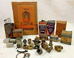 Vintage Lot of Fram Wagner Packard Spee-Dee Automotive Car Parts Misc.