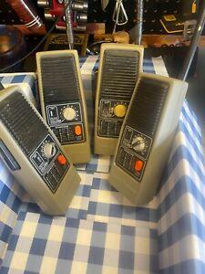 Two (2) sets of General Electric Portable Vintage Walkie Talkies Two Way Radios