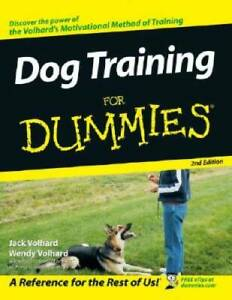 Dog Training For Dummies - Paperback By Volhard, Jack - GOOD