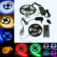 5M 10M 15M 3528 5050 RGB White SMD Flexibl Light LED Strip /12V Power /24 /44Key