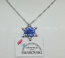 Collana donna argento e pendente con Cristalli Swarovski Originali idea regalo