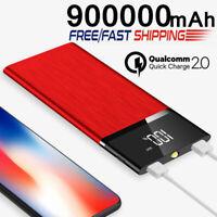 Huge Capacity Fast Charger 900000mAh Power Bank Portable External Battery UK