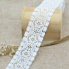 1Yards High Quality Vintage Fabric DIY White Lace Trim Decor Flower Crafts 6cm