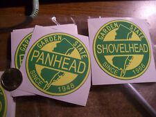 "Harley* Old School * New Jersey Panhead or Shovelhead Sticker * 3""X3"""