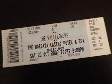 The Wallflowers 2007 Concert Ticket Stub Borgata Atlantic City Nj