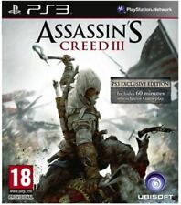 PS3 Assassin's Creed 3 NEW SEALED UK PAL Sony Playstation 3 Assasin Creed III