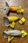 Three Sizes Of Fred Arbogast Jitterbugs Ex Condition *
