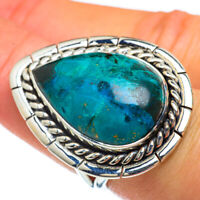 Large Chrysocolla 925 Sterling Silver Ring Size 7.25 Ana Co Jewelry R44150F