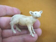(moose-10) baby white Moose cow of shed ANTLER figurine Bali detailed carving