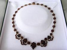 Antikes böhmisches Granat Collier, Kette,