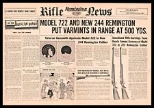 1956 Remington Model 722 and New 244 Rifle Centerfold Ad