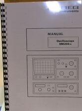 HAMEG Oscilloscope HM203-6 Service-Manual/Anleitung                         5143