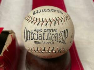 Vintage 1920s Wilson Official League Baseball TJ Hickey Autograph w/Box No.W150