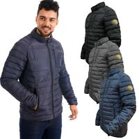 Ex-Store Mens Jackets Zip Up Quilted Lined Bubble Padded Puffer Coat Wamr Winter