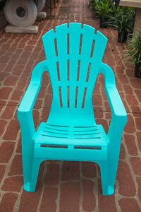 Outdoor Garden Patio Furniture Plastic Adirondack Deck Chair Italia Aqua Blue