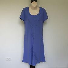 'JONES NEW YORK' AS NEW SIZE '14' LINED MAUVE CAP SLEEVE BEADED DRESS