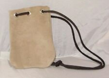 Leather Suede Pouch drawstring Dice Bag fits cell phone wallet change miniatures