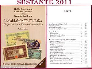 Catalogo prezzario LA CARTAMONETA ITALIANA Crapanzano Giulianini 2015/16 nuovo 2