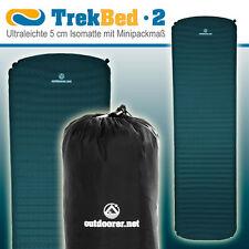outdoorer Trek Bed 2, selbstaufblasbare Isomatte, ultraleicht, kleines Packmaß