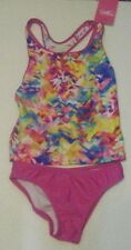 New Girls Speedo 2 pc Swimsuit Multi-color - Size 14