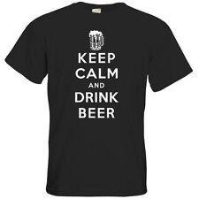 Unifarbene Herren-T-Shirts in Größe 5XL Keep Calm