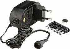 3 V/12V Universal Power Supply 1.5 A black 1.8 m/+6 DC adapter/max. 18W & 1.5 A