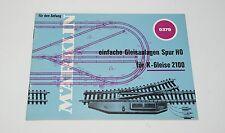 MÄRKLIN MARKLIN H0 : 0379 piccolo manuale tracciati binari K ottimo : anno 1969