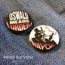 "Batman Returns - Pair of Prop Oswald Cobblepot for Mayor 1.25"" Button Badges"