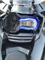 BMW R1250 GS & GSA  Headlight Guard With Transparent Blue Defuser. Made In UK