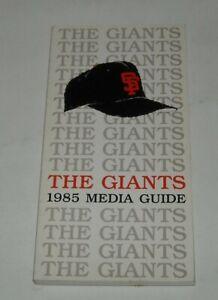 1985 SAN FRANCISCO GIANTS OFFICIAL MEDIA GUIDE BOOK MLB BASEBALL
