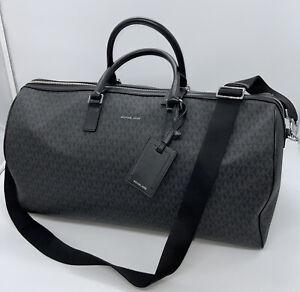MICHAEL KORS Harrison Travel Duffel Bag Signature  Black Jet Set