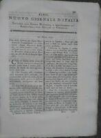 1790 NUOVO GIORNALE D'ITALIA: FIUME BRENTA A MIRANO E LIMENA E BUOI IN VENETO