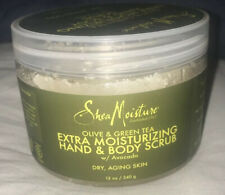 Shea Moisture Olive & Green Tea Moisturizing Body Scrub SEALED Anti-Aging, 12 Oz