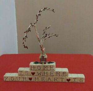 Blossom Bucket Zuzi Home Is Where Your Heart Is Tree Hearts Country House Figure