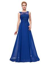Applikation Lang Abendkleid Ballkleid Hochzeit Party Brautkleid Gr.46 48 50 52++