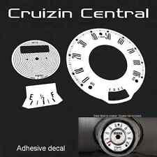 Plastic WHITE DECALS Austin Mini Cooper KMH MPH gauge dash speedo adhesive