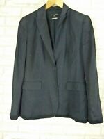 SABA Jacket Coat Sz 8 Navy Blue