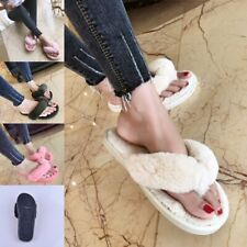 Winter Fashion Women Home Slippers Faux Fur Warm Shoes Woman Slip on Plus Size