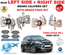 FOR FORD KUGA Mk I 2008-2012 2X REAR LEFT + RIGHT BRAKE CALIPER + BRAKE PADS SET