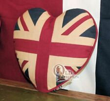 2 x Union Jack Heart Cushion
