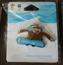 Quatchi snowboard cross 1270 AUTHENTIC Vancouver 2010 Winter Olympic PIN new