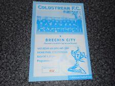 Coldstream V Brechin City 2000/1 Taza de Escocia 2nd Redonda ~ enero de 6th