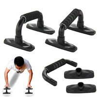 2x Push-Up Bars Foam Press Pull Up Stand Exercise Workout Gym Chest UK