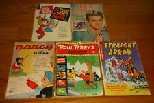 Lot of 5 Golden-age and Silver-Age comic books: Paul Terry, Nancy,Straight Arrow