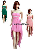Formal Evening Cocktail Bridesmaid Prom Dress Pink Green SZ 8 10 12 14 16 NEW